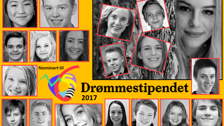 342 ungdommer nominert til Drømmestipendet 2017