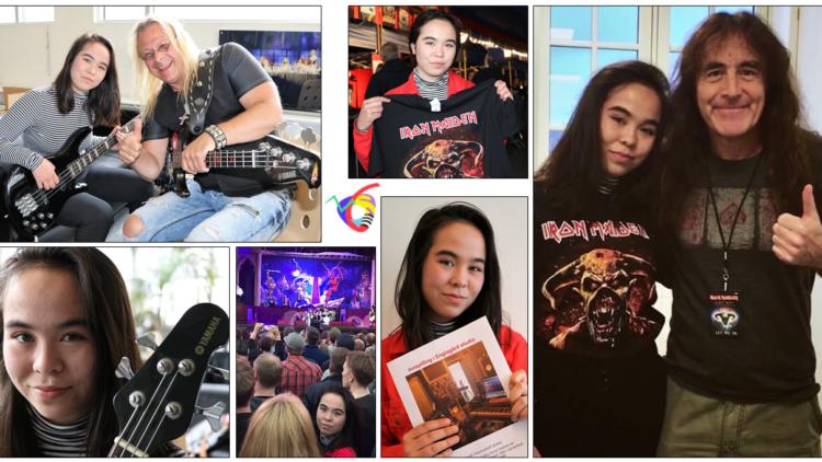 Anna (17) fra Aure fikk møte Iron Maiden-bassist – og ikke nok med det …!