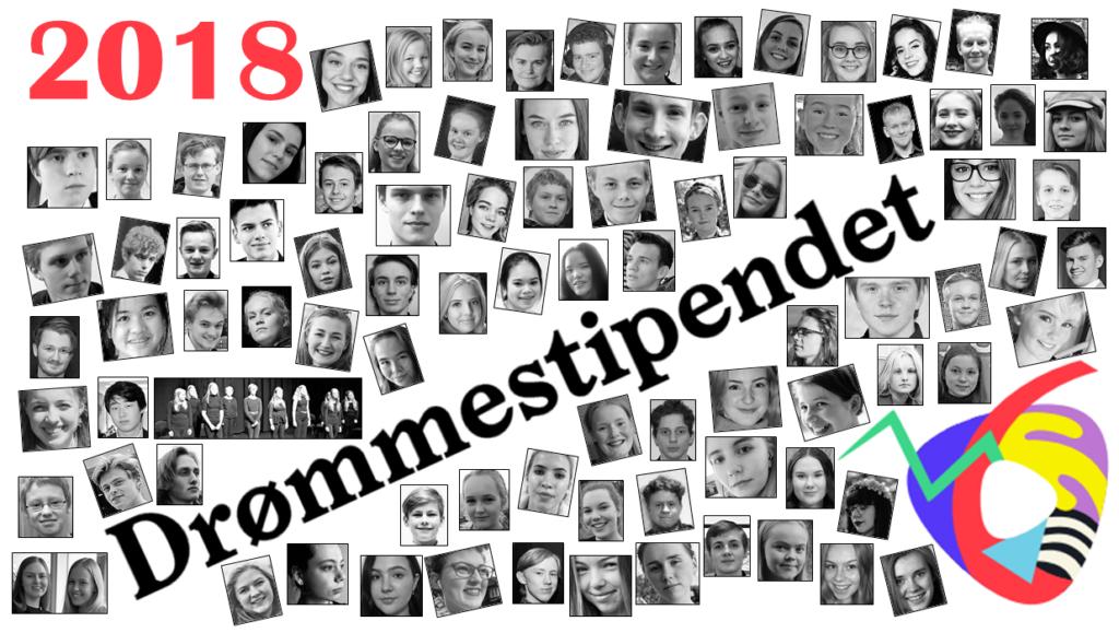 Her er de: 99 av 100 drømmestipendmottakere i 2018