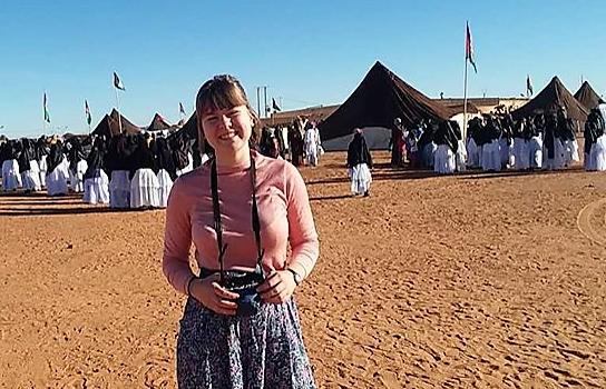 Brukte stipendet til å bo med flyktninger i Algerie